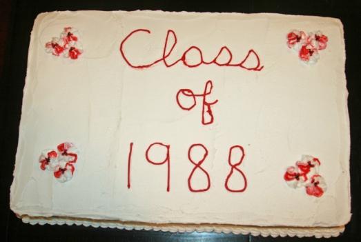 cake 25th class reunion
