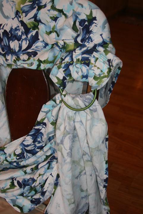 ring sling flower print