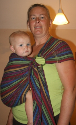 ring sling stripes w baby