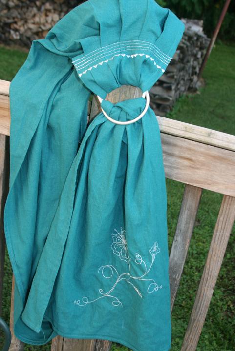 ring sling turquosie 1