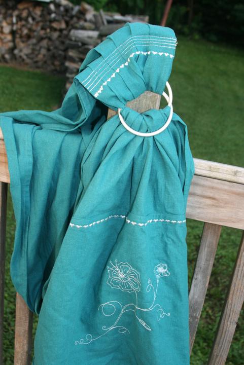ring sling turquosie 2