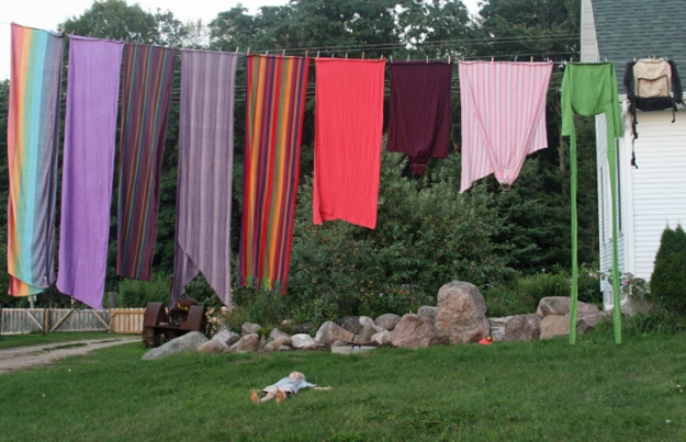 wraps stash shot on clothes line folded