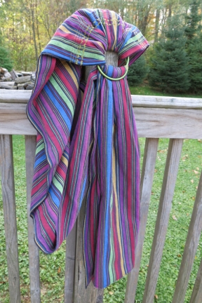 ring sling colorful stripes