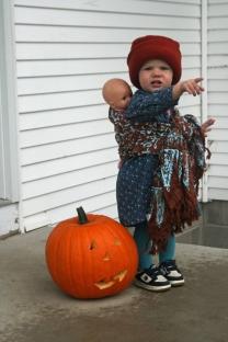 Wrap scarf Nola Mae pumpkin