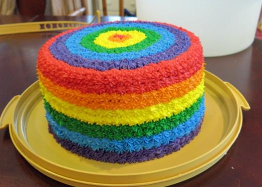Cake rainbow Sisters