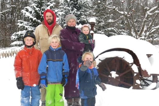 Family photo outside Dec 13