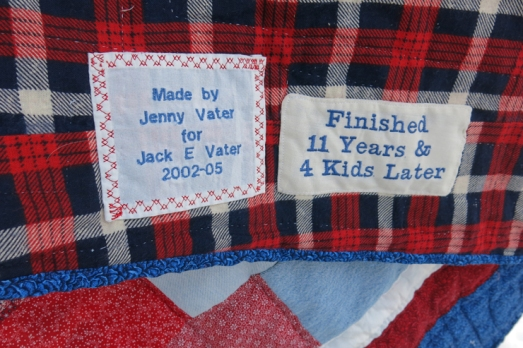 Quilt denim  label Jack's