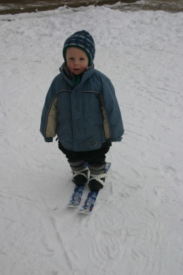 Skis Charlie 1st time