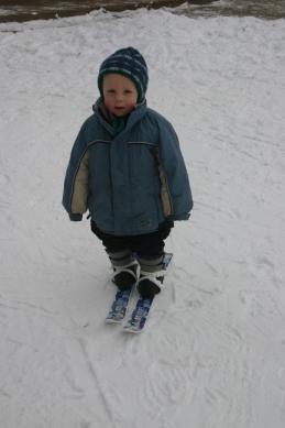Skis Charlie 1st time