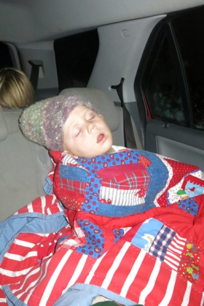 Sleeping in the car Henry