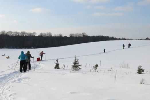 Dad & Lynn visit skiing field
