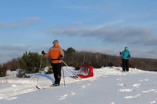 Dad & lynn visit skiing hill