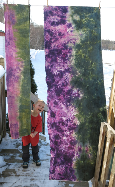 ice & snow dye purple & green on line 2 ring sling pieces1