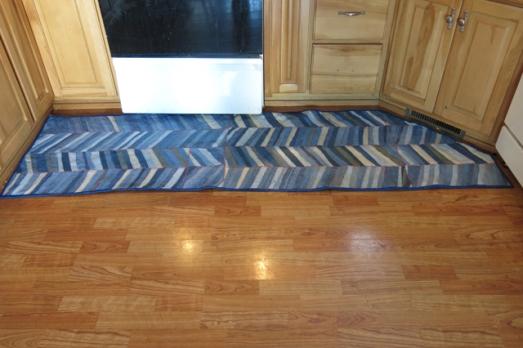 kitchen rug upcycle denim rug
