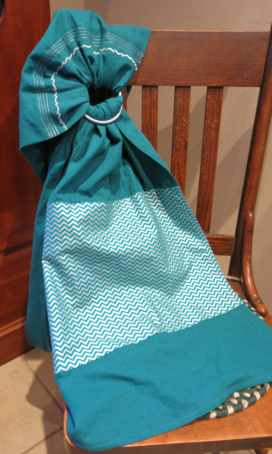 Ring sling turquoise chevron