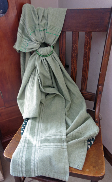 Ring sling Upcycle from table cloth