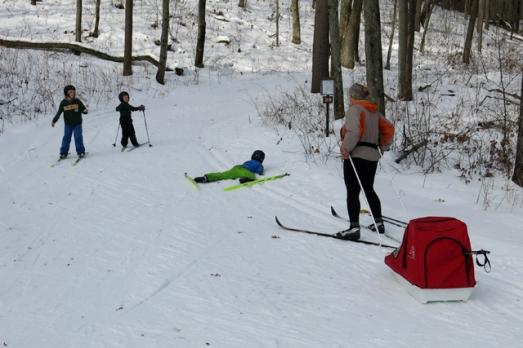 Ski family Charlie crash