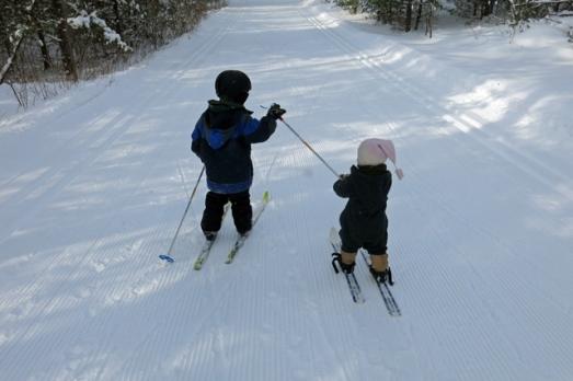 Ski Henry pulls Nola Mae