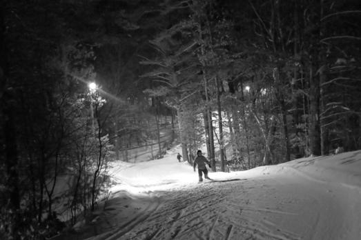 skiing family night