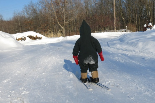 skiing snow heart Nola Mae