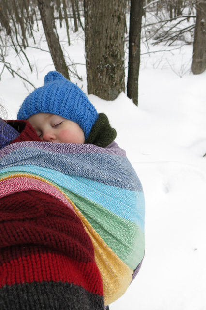 snow shoe nap wrap light rainbow