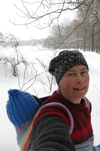 snow shoe selfie 3 wrap light rainbow