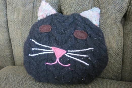 wool sweater kitty