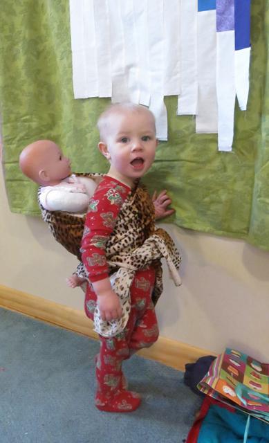 babywearing Nola Mae doll