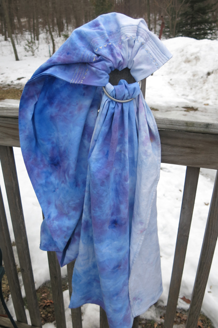 ice dye china blue & ocean blue ring sling