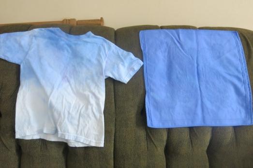 ice dye china blue & ocean blue shirt & napkin