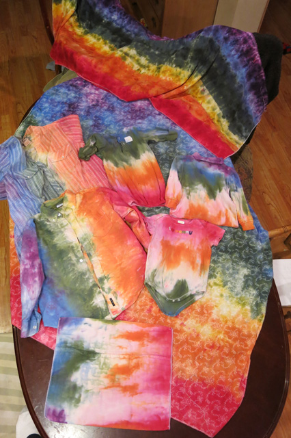 ice dye raibow project