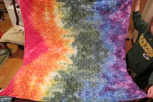 ice dye rainbow quilt fabric