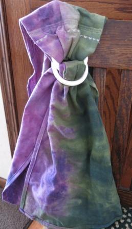 ice & snow dye purple & green ring sling child size