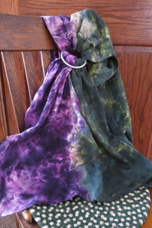 ice & snow dye purple & green ring sling