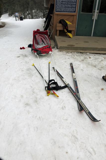 skiing sled