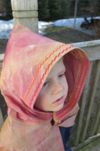 ice dyed cape hood