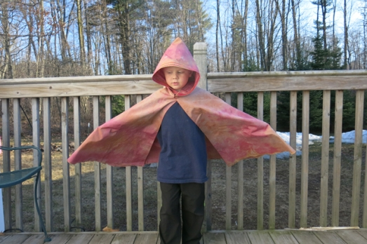 iced dyed cape
