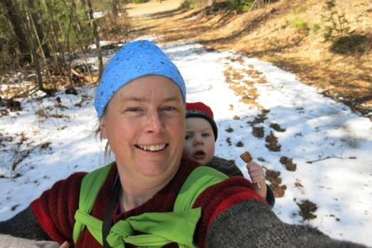 Last ski babywearing