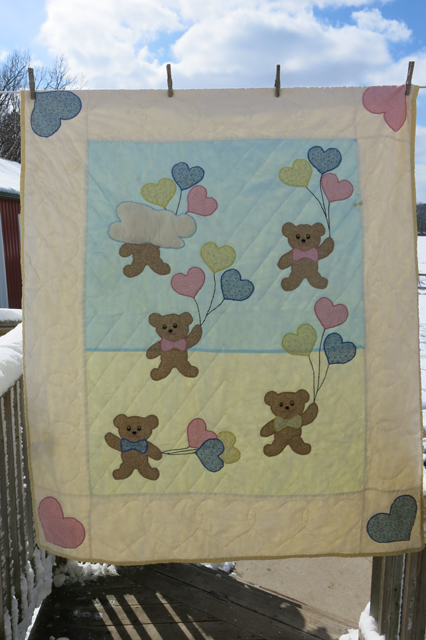 quilt bears & balloons Robbie