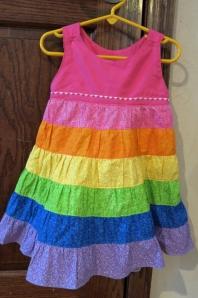 rainbow ruffle dress