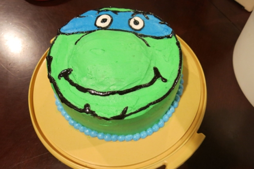 Teenage Mutant Nija Turtle cake