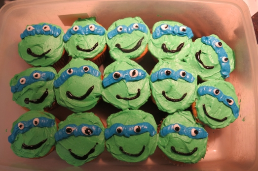 Teenage Mutant Nija Turtles cupcakes