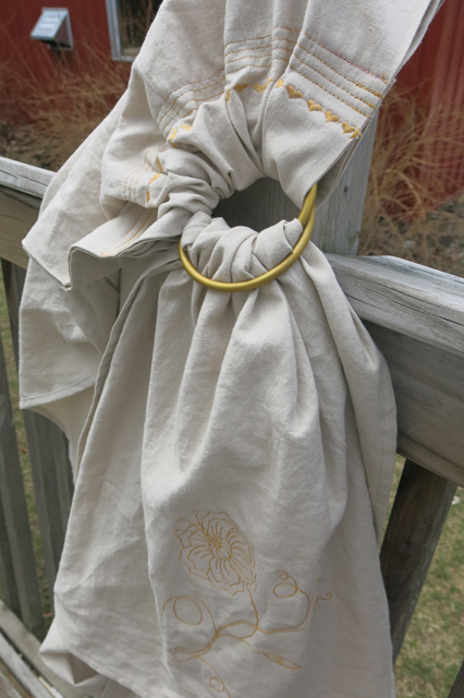 ring sling natural w bronze rings