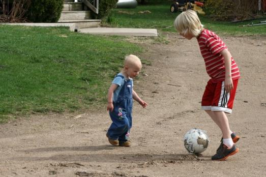 Charlie & Nola Mae soccer
