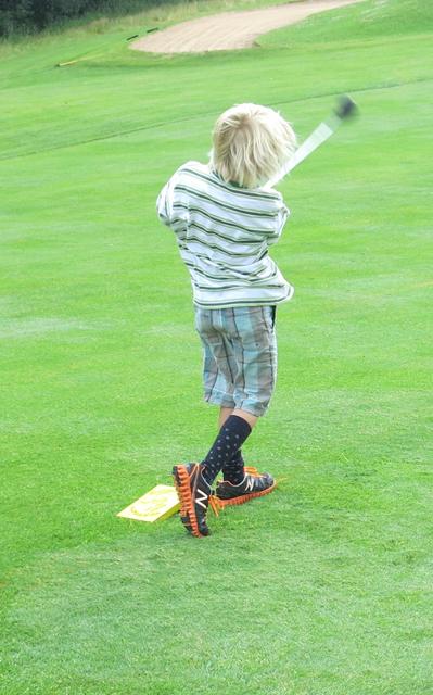 Charlie's socks golfing