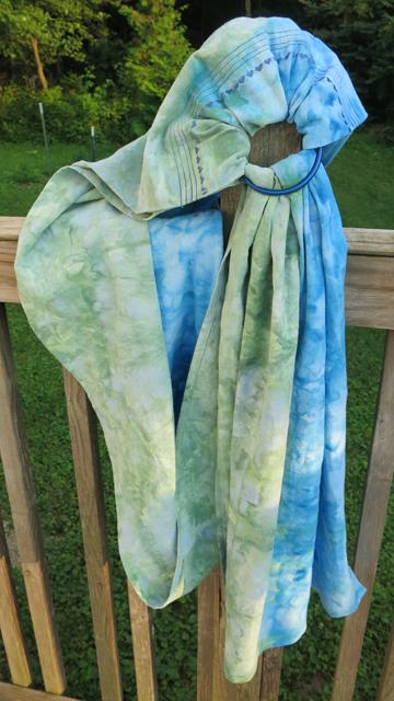 Dye ice ring sling creulean blue & better blue green