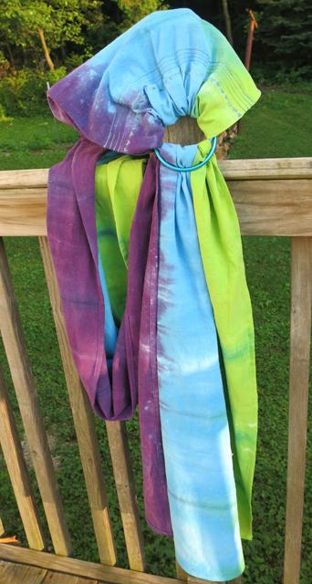 dye LWI granny apple, peacock blue, power berry ring sling