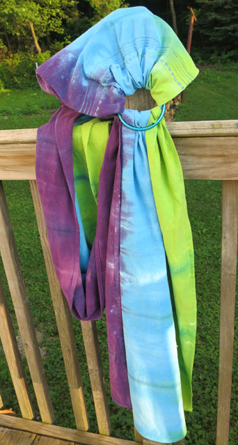 dye LWI granny apple, peacock blue, power berry ring sling