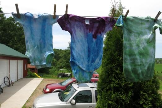dye LWI green blue purple clothes
