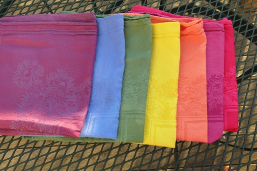 dyed rainbow napkins set 1